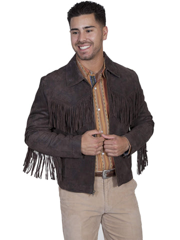 Scully Men's Jackets Frontier Leather Fringe Jacket