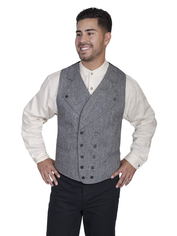 Scully Men's Vests Double Breasted Vest