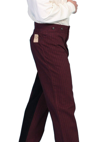 Scully Men's Pants Contrasting Saddle Seat Stripe Pant