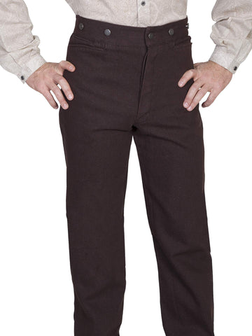 Scully Men's Pants 100% Cotton Button Fly Pants