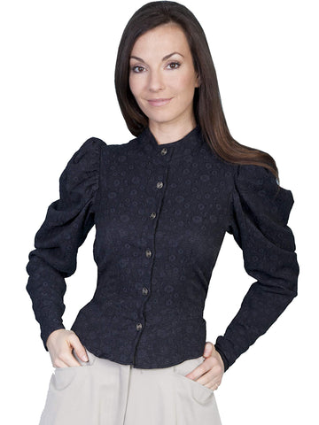 Scully Women's Blouses Classic Shirred Shoulder Sleeve