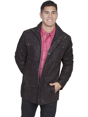 Scully Men's Jackets Frontier Leather Jacket With Knit