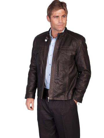 Scully Men's Jackets Zip Front Leather Jacket