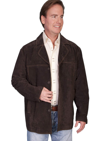 Scully Men's Coats 4 Button Boar Suede Car Coat