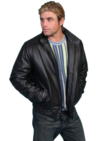 Scully Men's Jackets Zip Front Top Grain Calf Leather