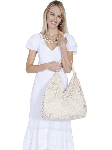 Scully Women's Handbags Macrame Handbag