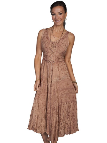 Scully Women's Dresses Full Length Lace Up Front Sleev