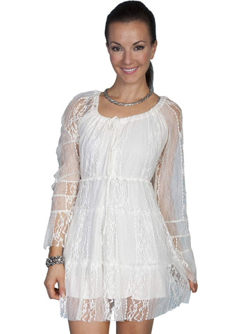 Scully Women's Dresses Long Sleeve Lace Dress With Loo