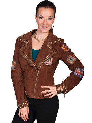 Scully Women's Jackets Studded Boar Suede Jacket
