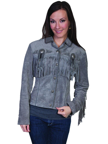 Scully Women's Jackets Boar Suede Fringe And Beaded Ja