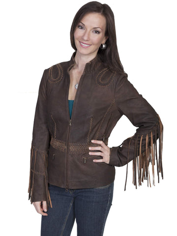 Scully Women's Jackets Ranch Leather Jacket With Long