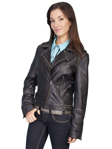 Scully Women's Jackets Soft Lamb Motorcycle Jacket