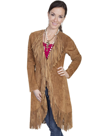 Scully Women's Coats Suede Fringe Maxi Coat