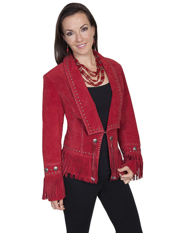 Scully Women's Jackets Classic Long Lapel Suede Jacket