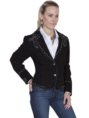 Scully Women's Jackets Boar Suede Jacket With Embroide