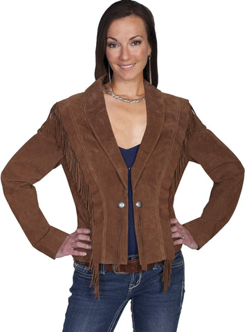 Scully Women's Jackets Fringe And Ruffle Suede Jacket