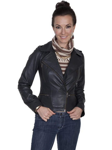 Scully Women's Jackets Motorcycle Style Lamb Jacket Wi