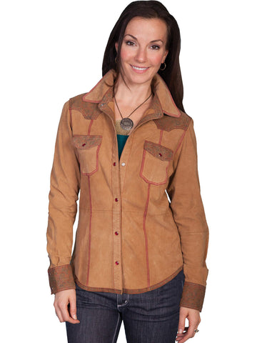 Scully Women's Jackets Supple Lamb Western Shirt Jacke