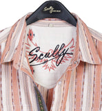 Scully Men's Shirts Cotton Lycra Blend Snap Front Shir