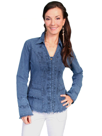 Scully Women's Blouses 100% Peruvian Cotton Long Sleev