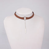 Stunning Choker with Drop Pendant