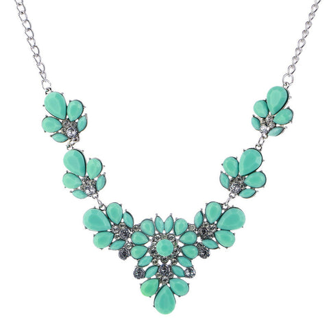 Bohemia Flowers Rhinestone Necklace | Choker