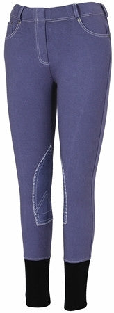 TuffRider Children's Newbury Pull On Breeches with Contrast Stitching