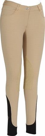 TuffRider Children's Wellesley Knee Patch Breeches w/ Contoured sock bottom (CSB)