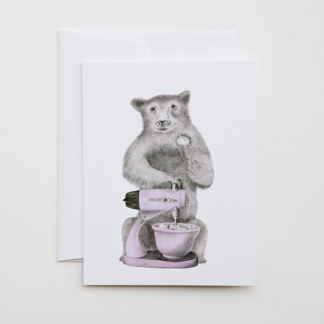 Eleanor Beauregard Black Bear Note Card