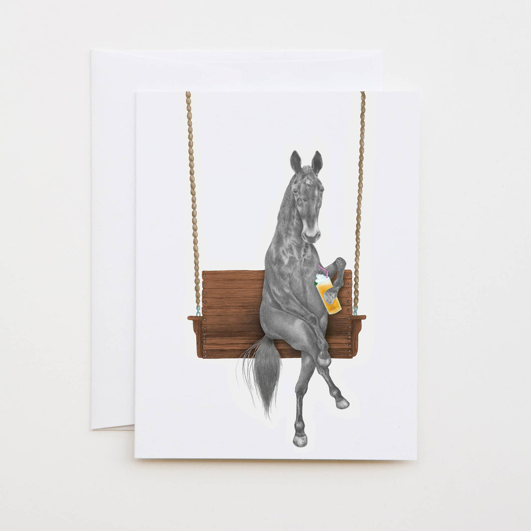 Miami Clementine Horse Note Card