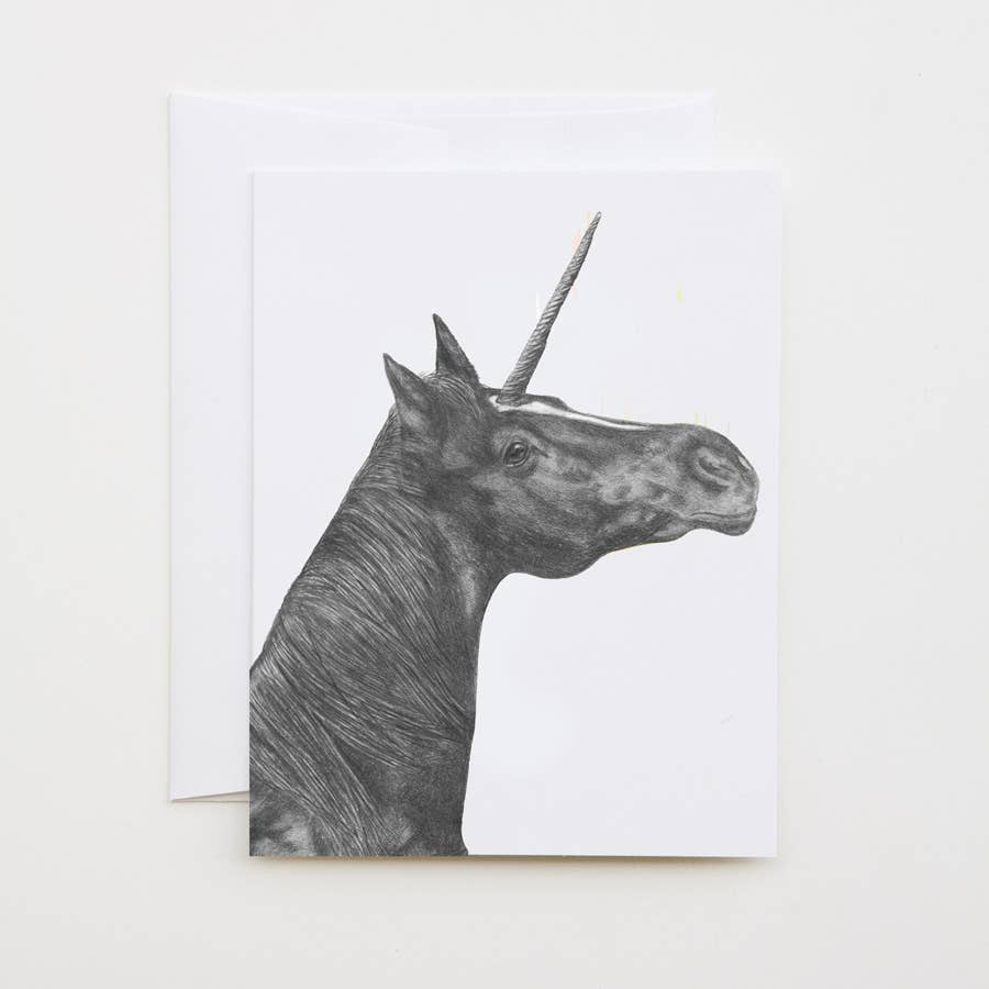 Jackpot Flame Unicorn Cameo Note Card