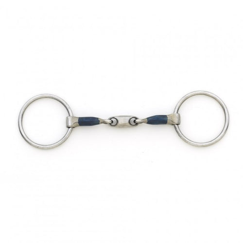 Centaur Blue Steel Oval Peanut Mouth Loose Ring