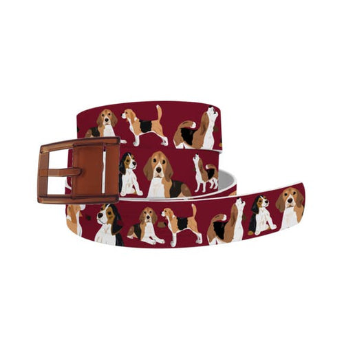 Beagles Belt with Khaki Buckle Combo