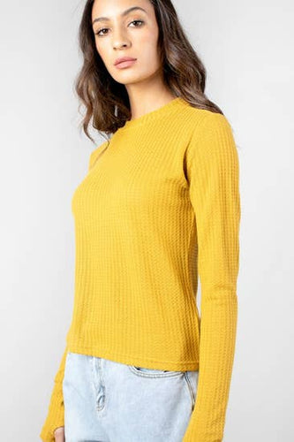 The Brianne Top - Mustard