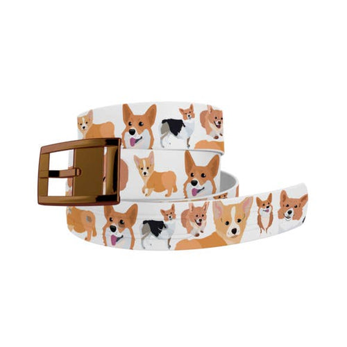Corgi Belt with Bronze Chrome Buckle Combo