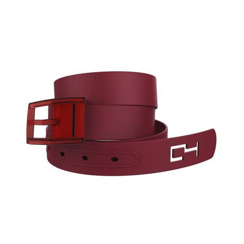 Classic Maroon Belt with Maroon Buckle Combo