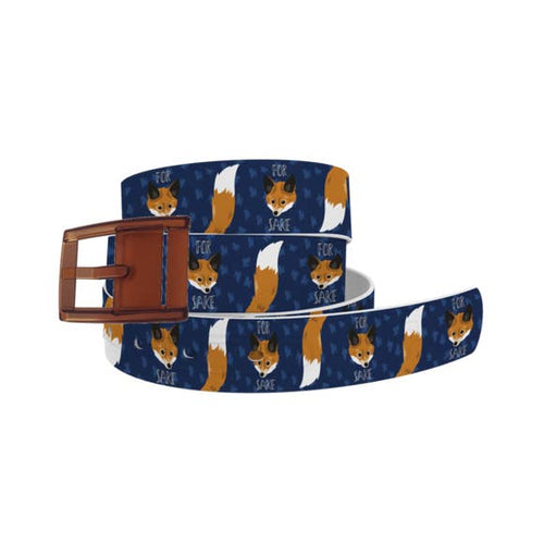 For Fox Sake Belt with Khaki Buckle Combo