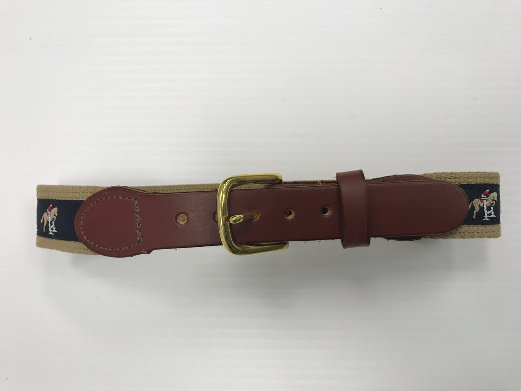 Children's Hunter Jumper Nylon/Leather Belt