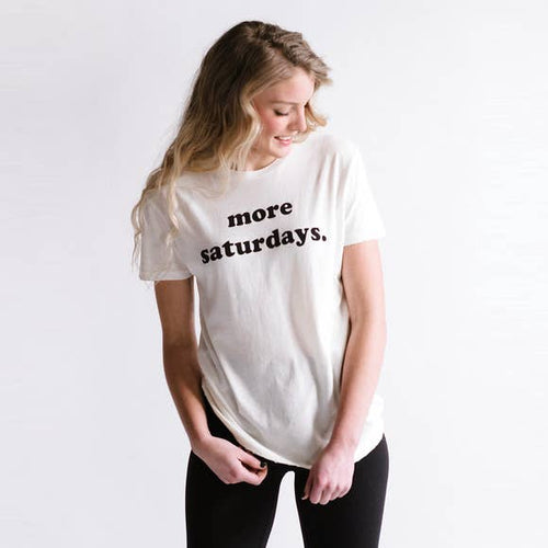 More Saturdays Boyfriend Tee Shirt - Vintage White