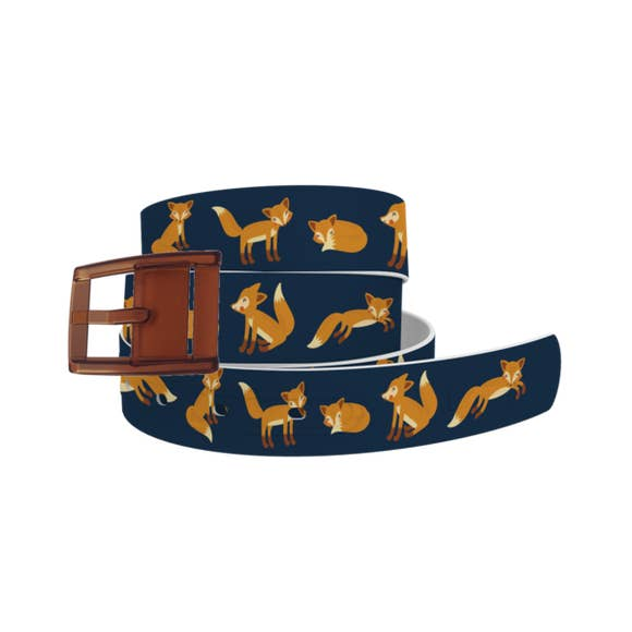 ETA Playing Foxes Navy Belt with Khaki Buckle Combo