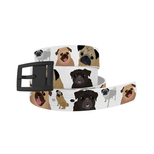 Pug Belt with Black Buckle Combo