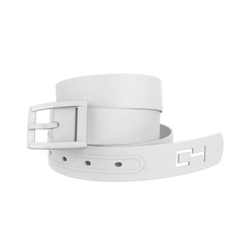 Classic White Belt with White Buckle Combo