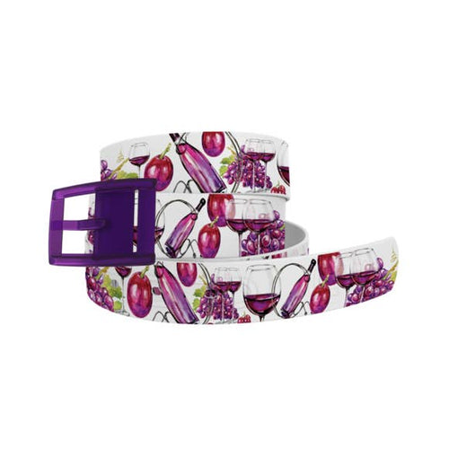 Wine Time Belt with Plum Buckle Combo