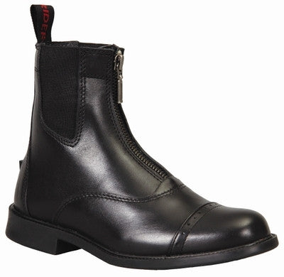 TuffRider Ladies Zip Baroque Paddock Boot - Black