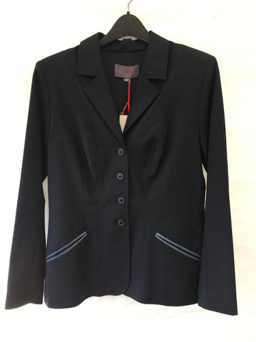 Winston Show Coat - Chicago Navy with Middle Blue Trimmed Pockets