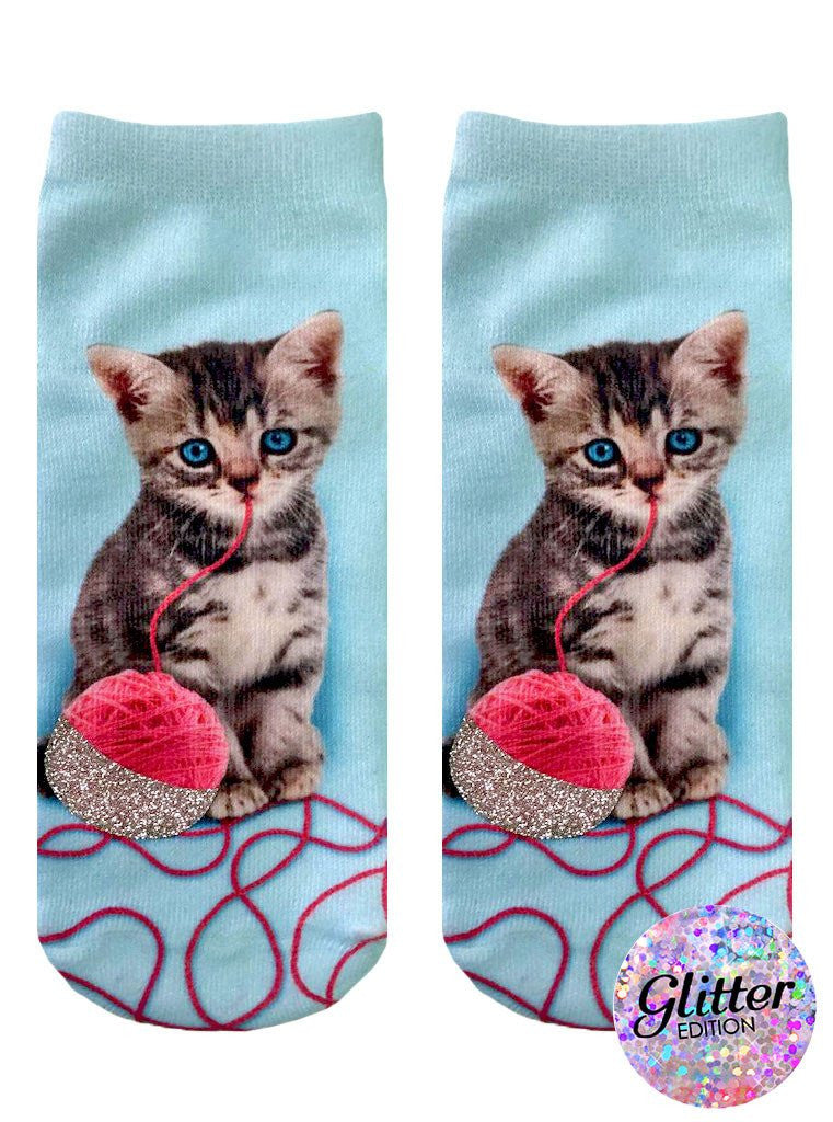 Living Royal Socks - Kitten and Yarn Glitter Ankle