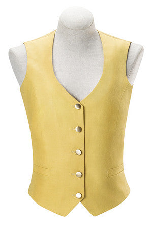 RJ Classics Ladies Aiken-Canary Yellow Foxhunting Vest