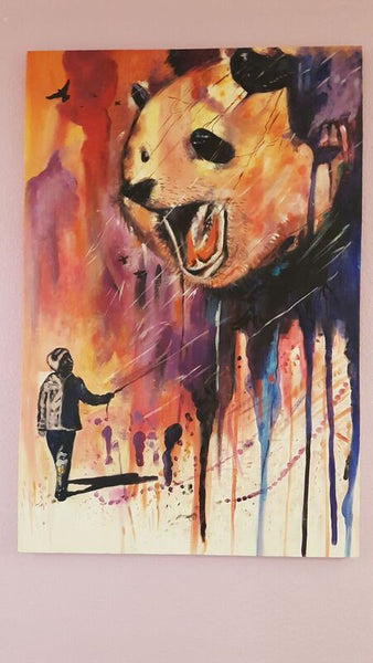 Tableau - Color Panda (70X105cm)