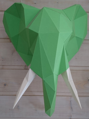 Elephant Géometric LowPoly (Papercraft animal) DIY kit