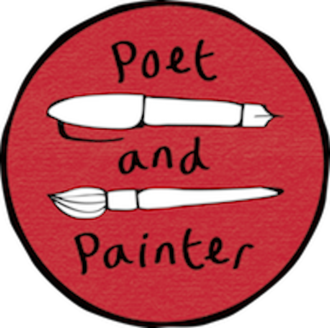 poet and painter red circular logo